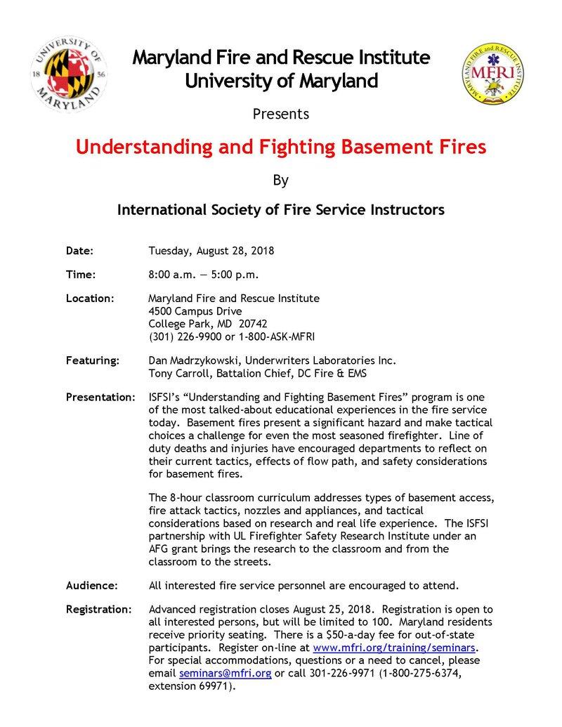 Basement Fires Brochure 3